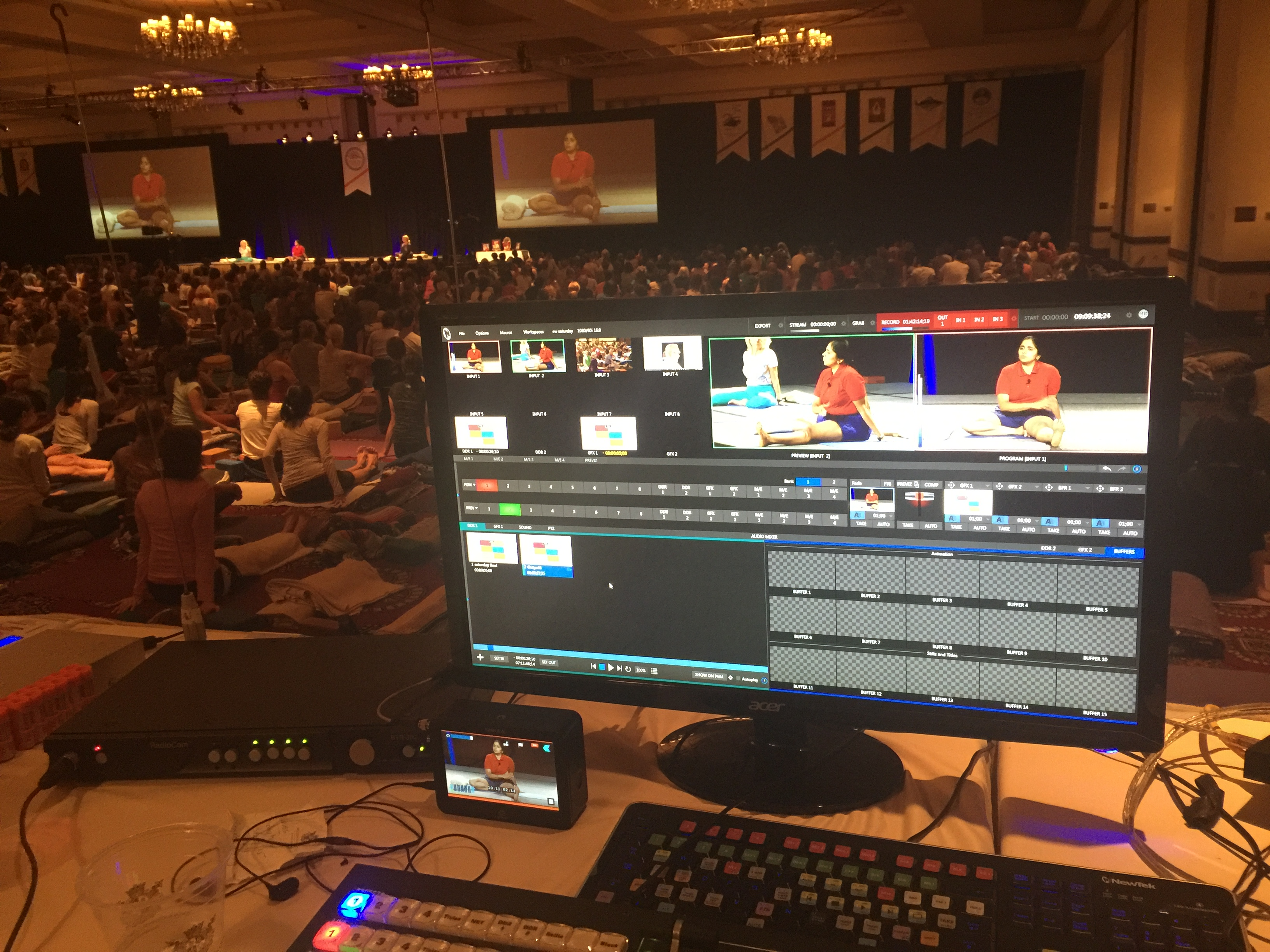 Tricaster Yoga Event